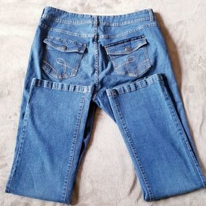 Riders by Lee Jeans - Riders by Lee Straight Leg Blue Jeans Size 16L